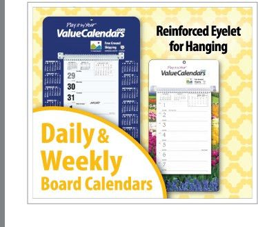 Daily & Weekly Board Calendars | Promotional Daily Date Calendars ...