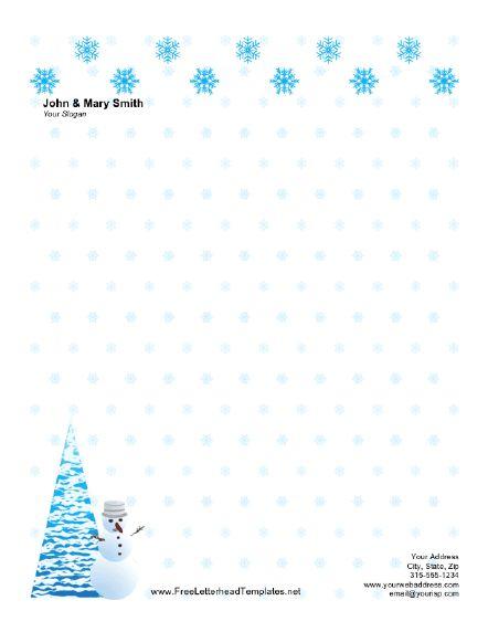 Christmas Letterhead with Snow