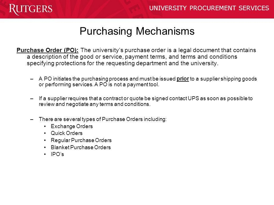 PURCHASING POLICY TRAINING - ppt video online download