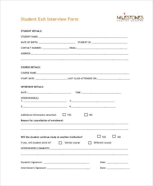 Exit Interview Template Exit Interview Form Template Sample Form – Exit Interview Form