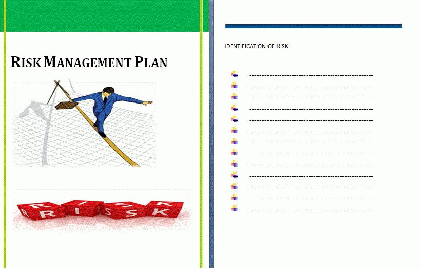 Risk Management Plan Template | Formsword: Word Templates & Sample ...