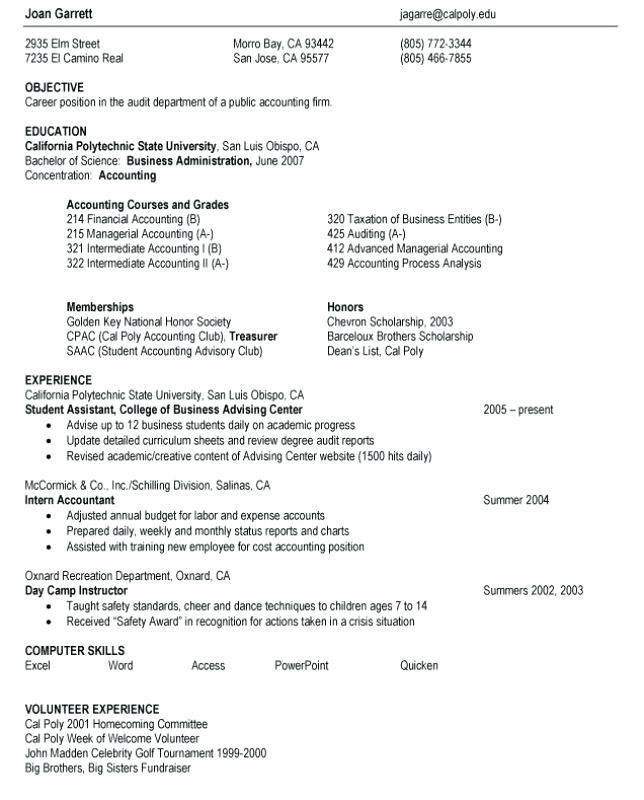 sample resume objectives for students how to write a career