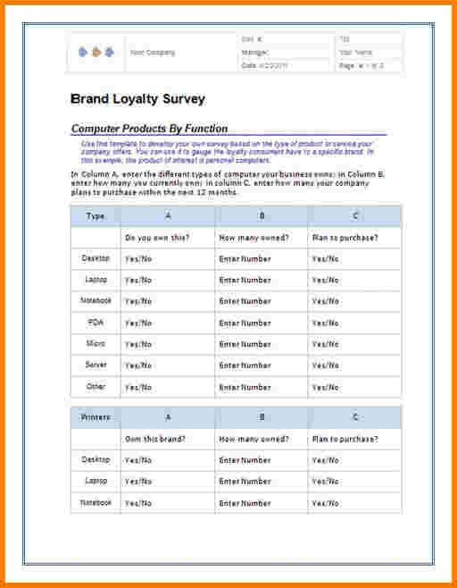 5 word survey template | Receipt Templates