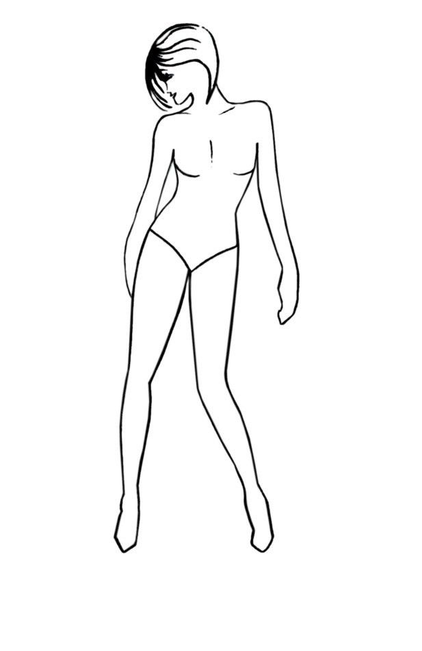 Elegant Pose Fashion Drawing Templates - Free Fashion-Templates 2