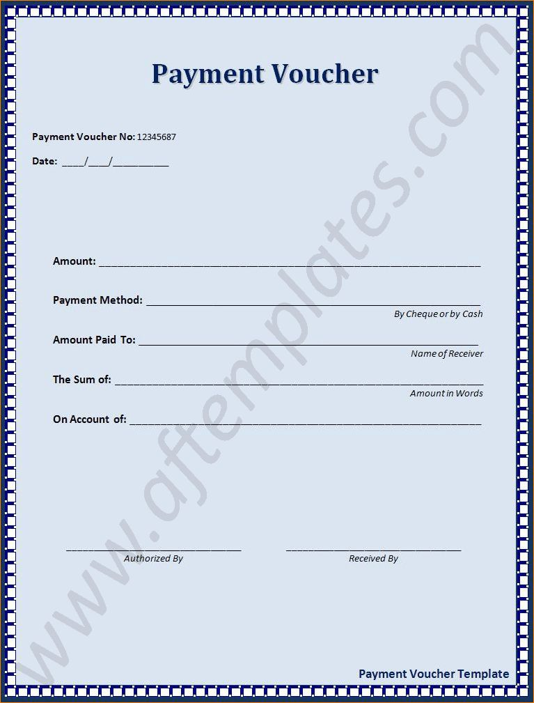 4+ voucher template | Outline Templates