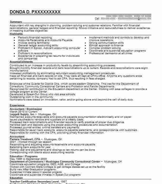Download Bookkeeping Resume | haadyaooverbayresort.com