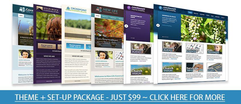 Christian Templates Online – Church Website Templates | WordPress ...