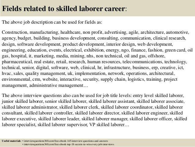 construction worker job description for resumes