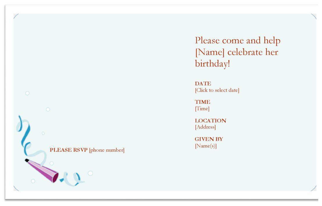 Professional Birthday Invitation Template