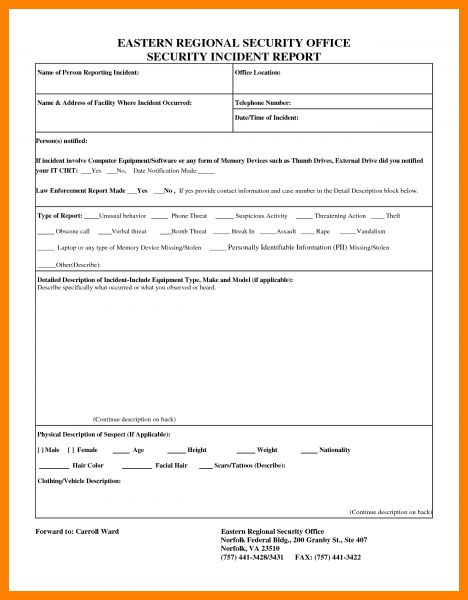 10+ cyber security incident report template | farmer resume