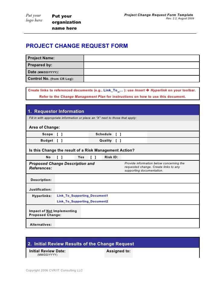 Change Management Template Word. change management plan template 6 ...