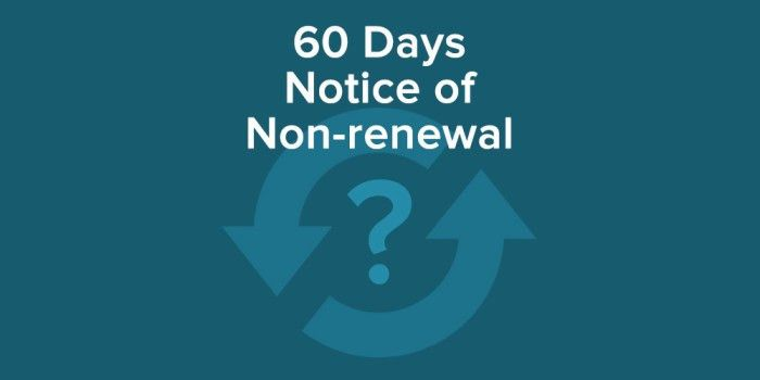 Require Your Tenants to Give 60 Days Notice of Non-renewal