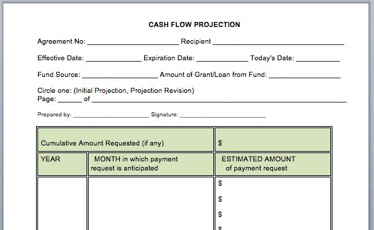 MS Word Cash Flow Statement | Microsoft Word Templates