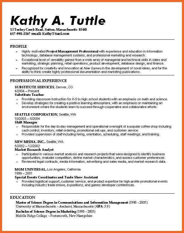 great resume examples | sop example