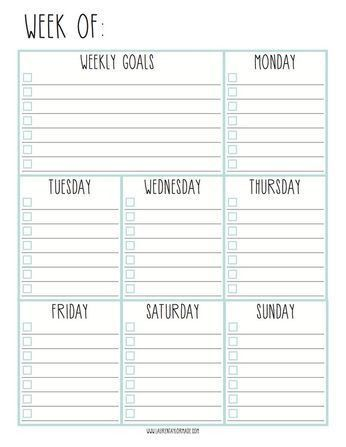 Best 25+ Weekly planner printable ideas on Pinterest | Weekly ...