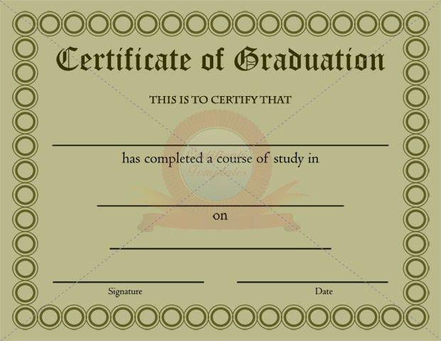 Graduation Certificate Template | GRADUATION CERTIFICATE TEMPLATES ...