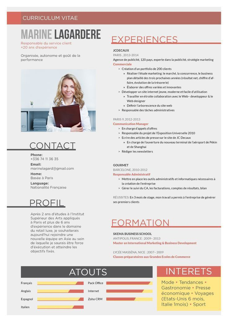The 25+ best Cv francais ideas on Pinterest | Lettre de motivation ...
