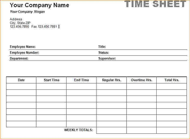 7+ Timesheet Template Word   Timeline Template