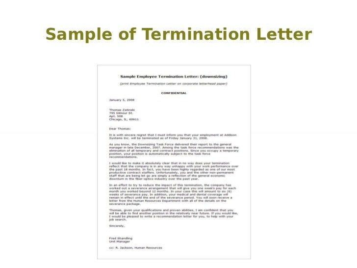 Employee Contract Termination Template | Create professional ...