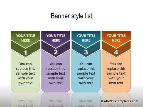 presentation template list flat design powerpoint bullet list ...