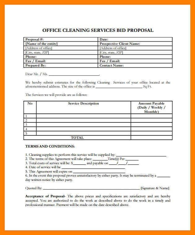 Cleaning Service Proposal Template. best 20 cleaning contracts ...