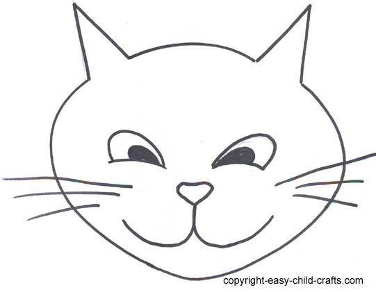 Cat Face Template   Free Download Clip Art   Free Clip Art   on ...