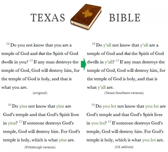 Texas Bible (plugin): Fixing the Second Person Plural Problem One ...