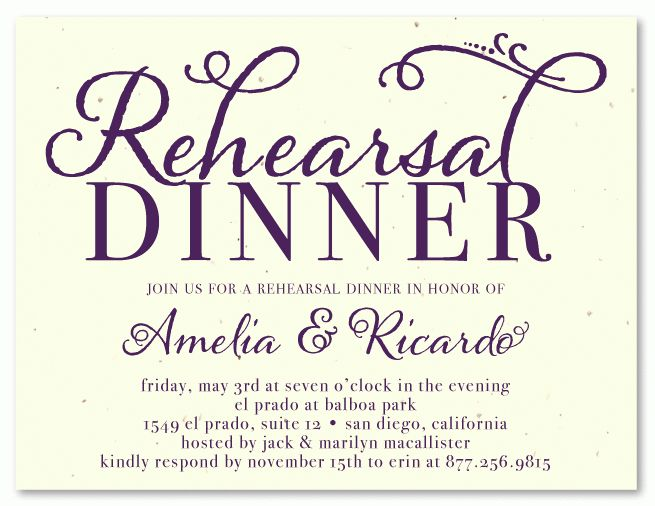 Rehearsal Dinner Invitation Template - plumegiant.Com