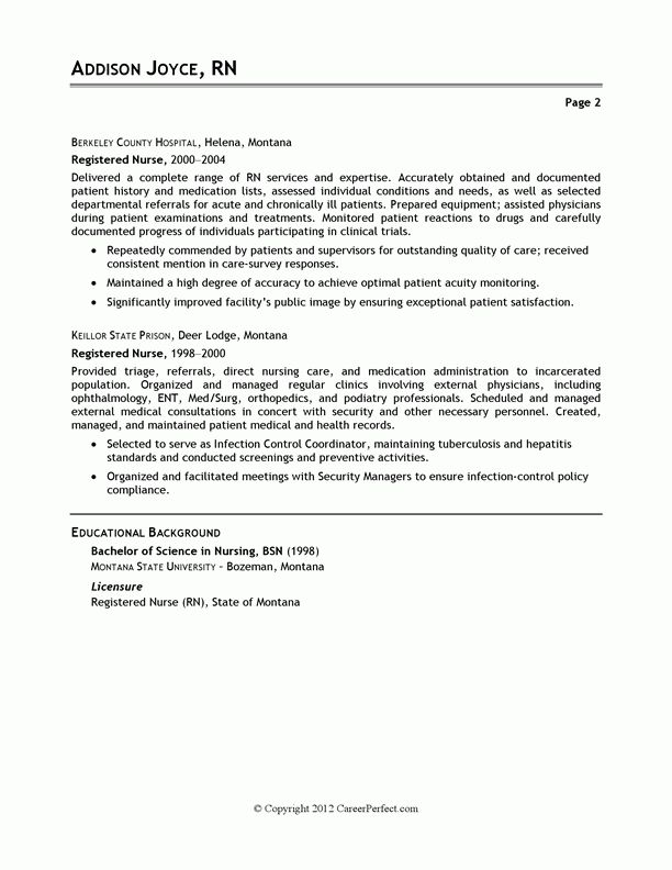 Download Resume Example Nurse | haadyaooverbayresort.com