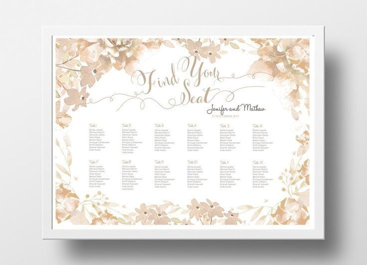 12 best DIY Wedding Seating Chart Poster Templates images on ...