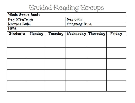 Guided Reading Lesson Plan Template | tristarhomecareinc