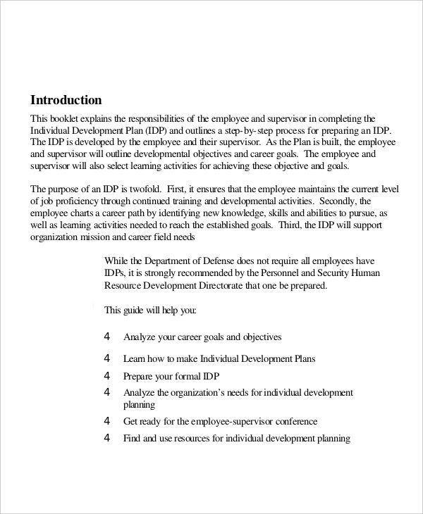 5+ Individual Development Plan Examples, Samples