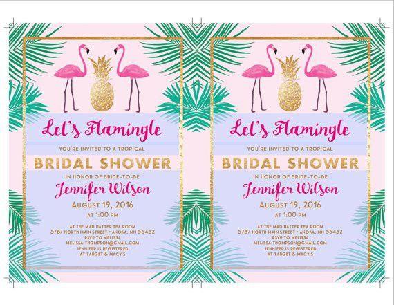 Let's Flamingle Printable Bridal Shower Invitation