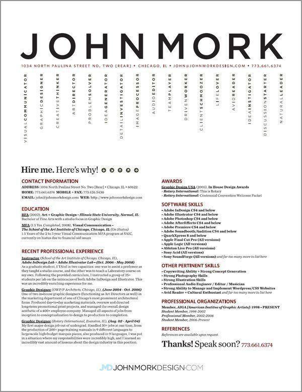 345 best Resumes images on Pinterest | Resume ideas, Resume design ...