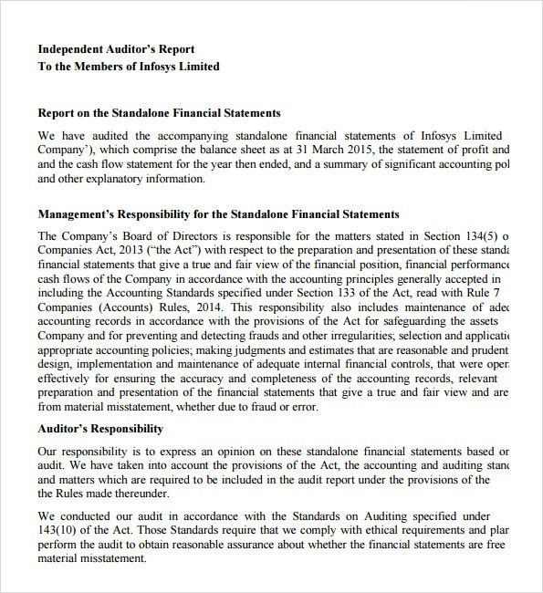Sample Audit Report - 6+ Documents in PDF