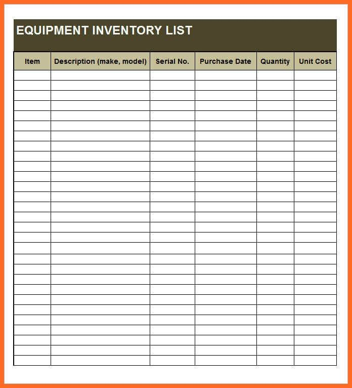 Food Inventory Template. Free Food Inventory Master Template ...