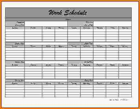10+ monthly schedule template - LetterHead Template Sample