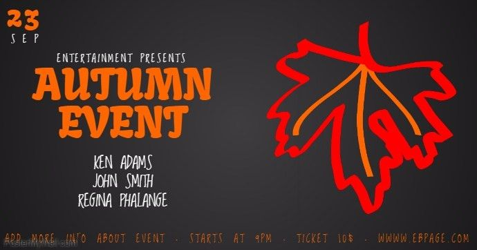 Autumn event Facebook Cover template | PosterMyWall