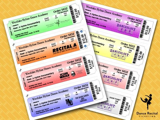 Dance Recital Ticketing | Ticket Sample