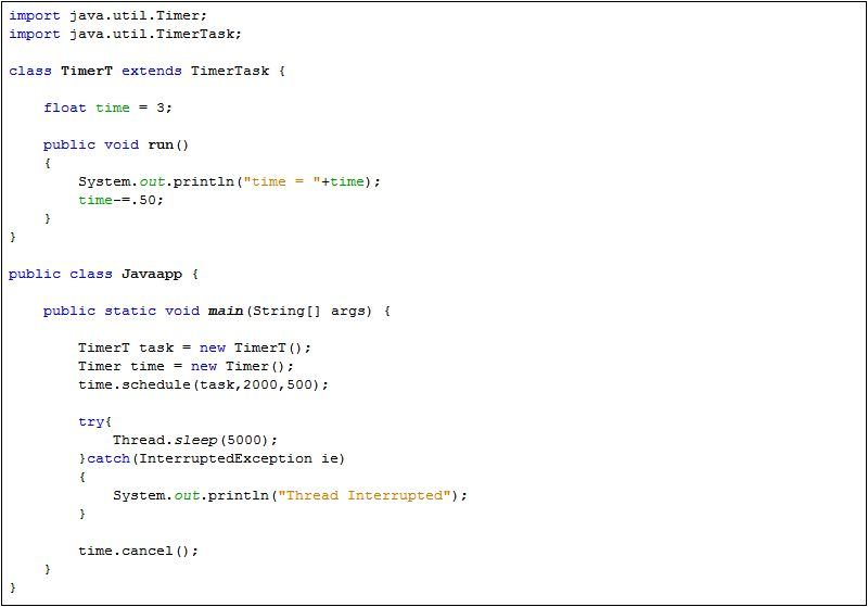 Java Timer and TimerTask - Java Tutorial