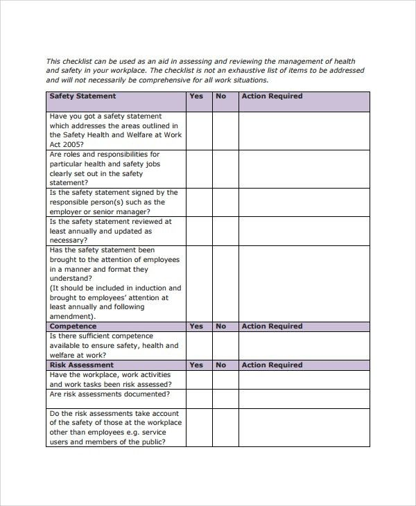 Sample Checklist Template - 19+ Free Documents Download in PDF, Word