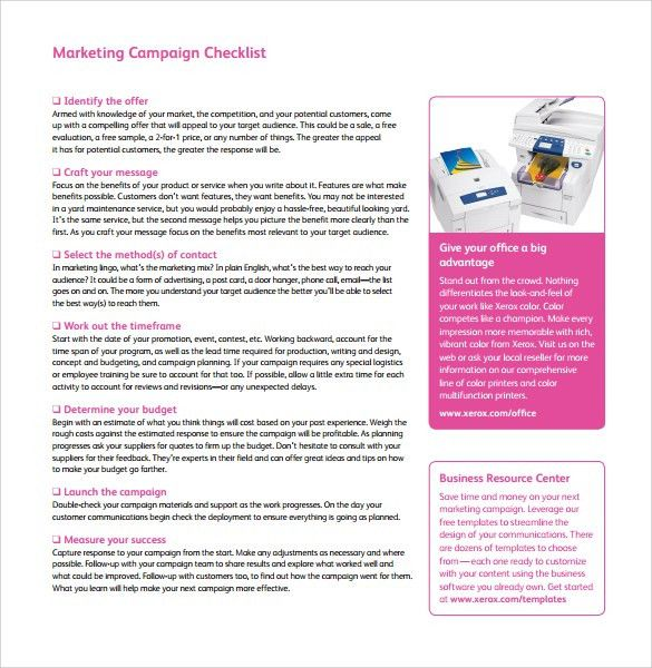 Marketing Campaign Template | cyberuse