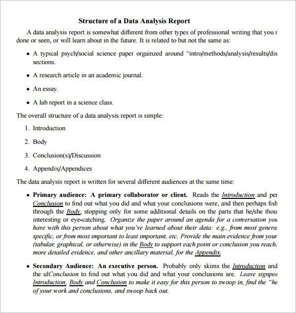 Data Analysis Report Templates – 5 Free PDF, Word Documents ...