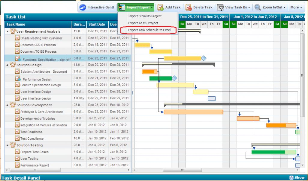 7+ Project Schedule Template Excel | Ganttchart Template