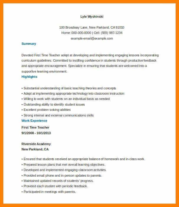 Example Of Teacher Resume. Teachers Resume Example Best 25 Teacher ...