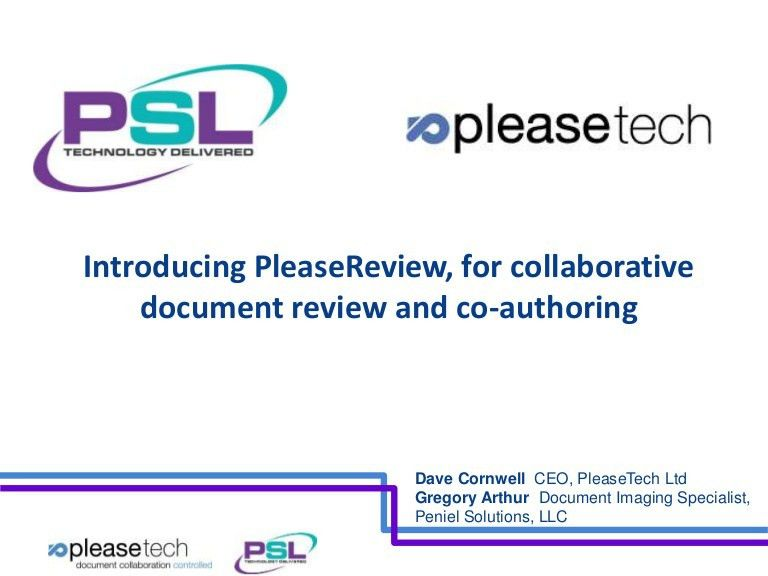 Document collaboration & review capabilities now on offer within lead…