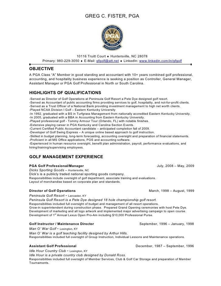 golf course superintendent resume golf course resume contegricom