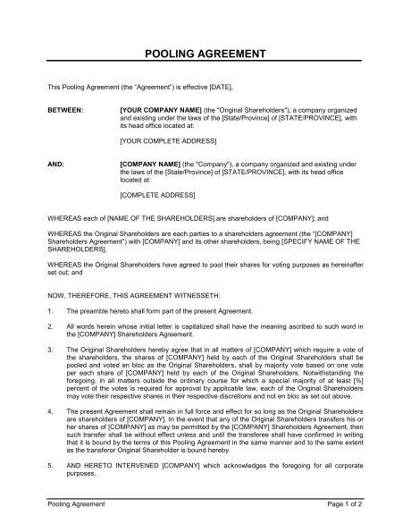 Financing Agreement - Template & Sample Form | Biztree.com