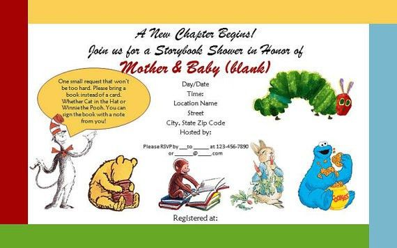 Storybook Baby Shower Invitations | almsignatureevents.com