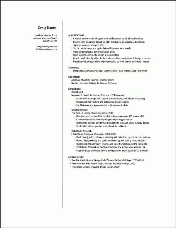 Design Resume Samples - Best Resume Collection